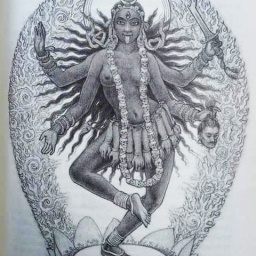 Waning Moon  the Goddess Kali